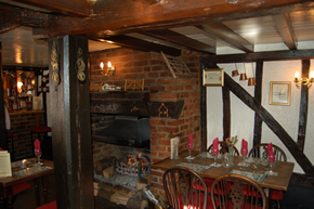The restaurant at The Hurdlemakers Arms in Woodham Mortimer, near Maldon and Danbury, Essex